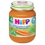 HIPP Био бебешко пюре Ранни моркови 4м+ 125 гр.